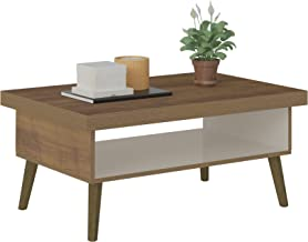Artely Lucca Coffee Table, Pine Brown with Off White - W 91 cm x D 59 cm x H 44.5 cm