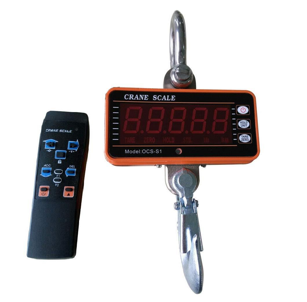 WUPYI2018 Báscula de grúa profesional, 1000 kg, LED, escala electrónica inteligente, con mando a distancia