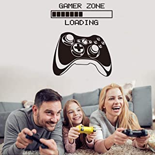 Game Wall Decals Game Loading Wall Stickers Game Controller Wall Posters for Bedroom, Gamer Zone Quotes Wallpaper Video Ga...