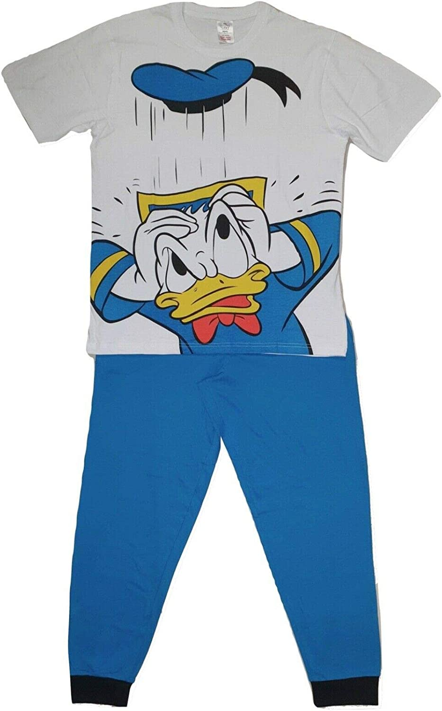 Garçons Donald Duck Pyjamas enfants Nightwear pyjama Mickey et amis à manches longues bleu