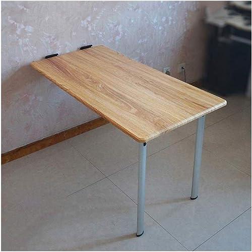 LQQGXLPortabler Klapptisch Wand-Laptoptisch, Klapptisch, einfacher Schreibtisch, (Farbe   Gelbwood)