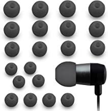 MMOBIEL 10 Pairs ( 2x XS / 2x S / 2x M / 2x L / 2x XL) Silicone Ear Tips Earbuds Buds Set for Monster Panasonic Powerbeats 1 / 2 / 3 JVC Sony Ultimate Ears Sharp TDK Phillips Audio-Technical Sennheiser Plantronics Skullcandy Denon Griffin headphones (Black)