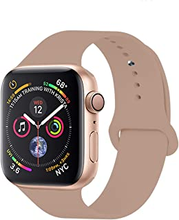 YC YANCH Compatible with for Apple Watch Band 38mm 40mm, Soft Silicone Sport Band Replacement Wrist Strap Compatible with for iWatch Series 5/4/3/2/1, Nike+, Sport, Edition, S/M, Size, Walnut