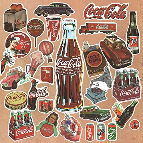 DSSJ Pegatina de Bebida de Marca de Marea Retro Europea y Americana, Maleta, Caja de teléfono portátil, Pegatinas Decorativas de Pared