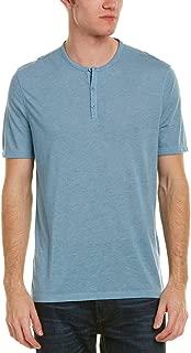 Star USA Men's Short Sleeve Henley Shirt