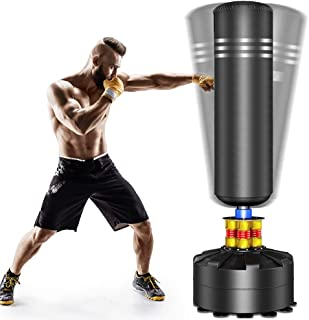 Dprodo Punching Bag Heavy Boxing Bag with Suction Cup Base - Freestanding Punching Bag for Adults Kickboxing Bags Kick Punch Bag