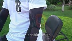 Golf 3 Pair Sport de Refroidissement Manches Bras de Protection de la Peau pour Le Cyclisme Gobesty Arm Sleeves UV Protection Anti-Slip Tennis Driving Randonn/ée et Activit/és en ext/érieur