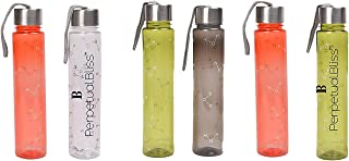 Perpetual Bliss (Pack of 6) Fancy Transparent Water Bottle for Kids / 500ml / Birthday Return Gifts