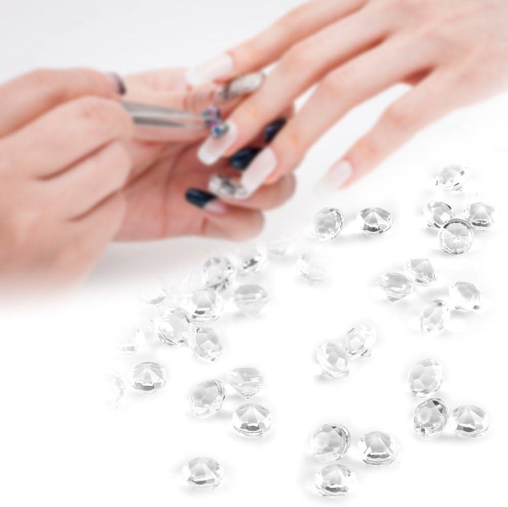 Fdit 3000 Pieces//Bag 3 mm Acrylic Beads Clear Crystal Acrylic Beads Acrylic Diamonds for Wedding Bridal Shower Vase Beads DIY Decorations