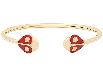 Kate Spade New York Animal Party Ladybug Flex Cuff Bracelet (Red) Bracelet