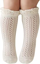 SZTARA Knee-High Hollow Out Non-skid Socks Knitting Socks Suitable for 0-2 Years Old Baby Girls