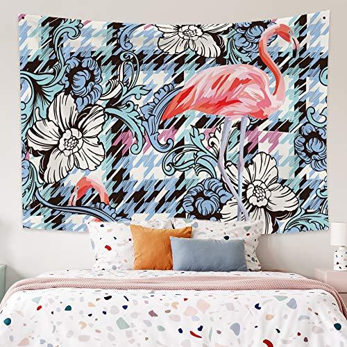 Miueapera 60x52 inch Flamingo Tapestry Polyester Stof Tropische Plant Achtergrond Muur Opknoping Woonaccessoires Voor Wanddecoratie Plafond Cover Gordijn Scheidingswand Gift Voor Familievriend