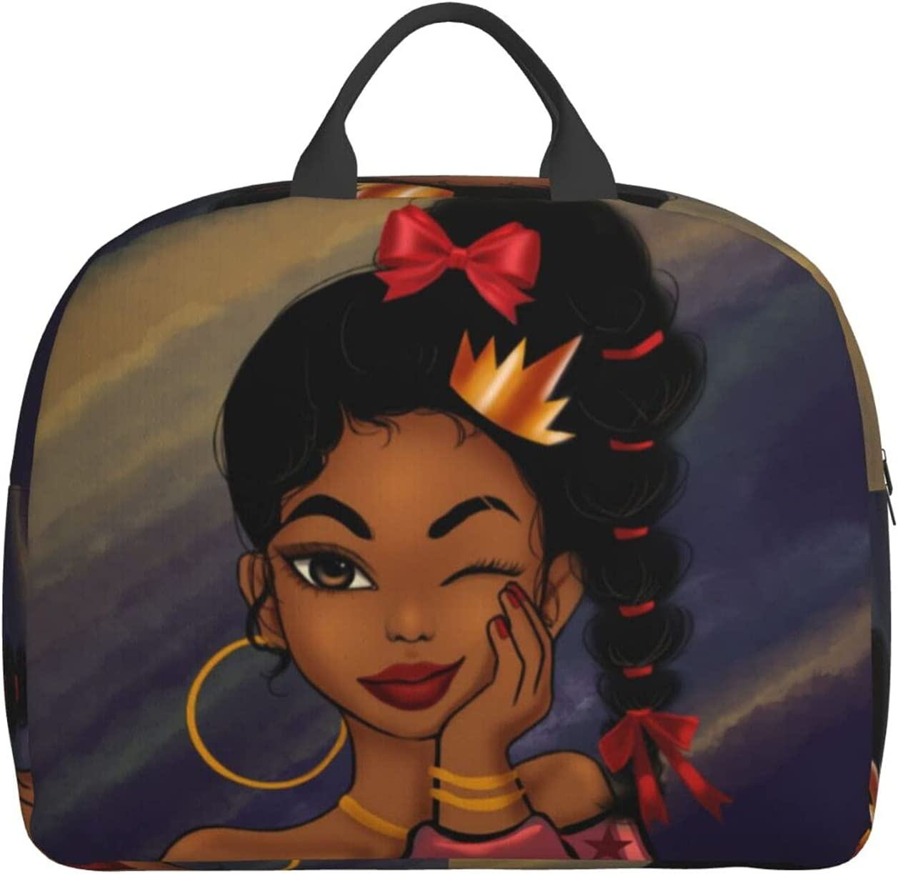 African American Foldable Travel Duffel Luggage Sports Bag Seattle Mall Gym B Spring new work one after another