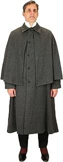 Historical Emporium Men's Herringbone Tweed Inverness Dress Coat