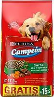 Purina Campeon Alimento para perro adulto carne con Vegetales Croquetas 15Kg BONUS con 15% GRATIS