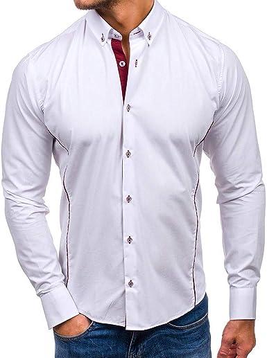 Camisas Formales para Hombre Camisas de Manga Larga para ...