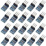 20 Pieces 3 Pins AMS1117-3.3 DC 4.75V-12V to 3.3V Voltage Regulator Step Down Power Supply Buck 800mA Module