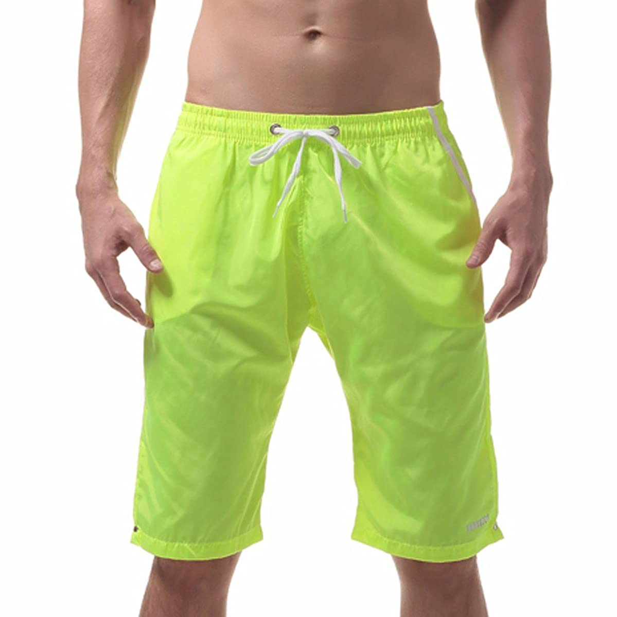 Men's Fashion Shorts, Sports Pants Swim Trunks Quick Dry Beach Surfing Running Swimming Shorts with Pockets