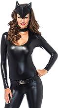LEG AVENUE(レッグアベニュー) Feline Femme Fatale シッポ付きキャットスーツ ベルト ヘッド 3点セット M ブラック 83767