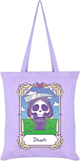 Deadly Tarot Kawaii Death Lilac Tote Bag
