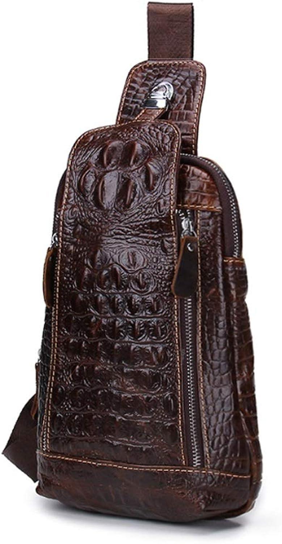 Haoweiwei Geldbörse Mode krokoprägung leder herren umhängetasche umhängetasche herren brusttasche mit reißverschluss umhängetasche B07LCF35CW