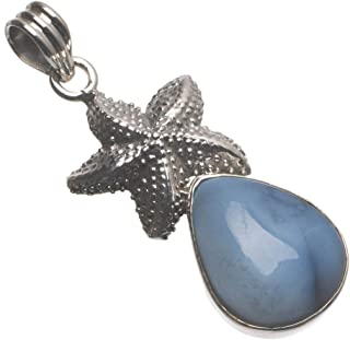 Natural Owhyee Opal Starfish Handmade Indian 925 Sterling Silver Pendant 2