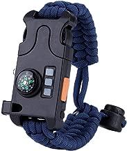 Appearanice Peque/ño port/átil al Aire Libre Fire Rod Survival Dril Fire Starter Perforado con Orificio de Palanca para Collar de Pulsera Paracord