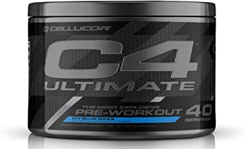 Cellucor Id Series C4 Ultimate Flavoured Pre-Workout, Icy Blu Raz, 20 Servings