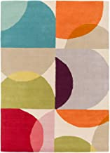 Decovio 12380-OR Ross 96 X 60 inch Orange and Red Area Rug, Wool