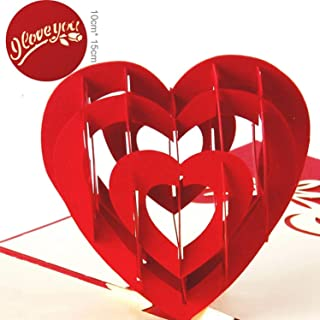 OUOK Valentines Day 3D pop up Greeting Cards Laser Cut Wedding Invitations Lovers Postcards Hollow Handmade kirigami Gifts Mariage,1003