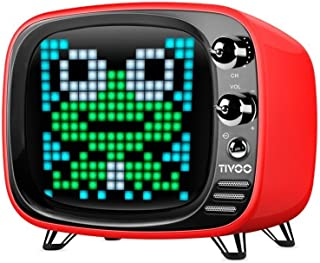 Bluetooth Smart Pixel Art Display Bluetooth 5.0 Speaker Divoom Tivoo Smart Player (red)