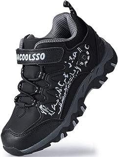DADAWEN Kids Boys Girls Waterproof Hiking Shoes Outdoor Athletic Trail Running Sneakers (Toddler/Little Kid/Big Kid)