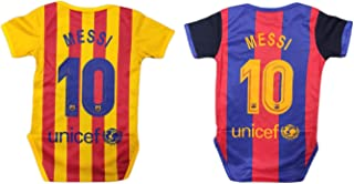 Lionel Messi #10 Soccer Jersey Baby Infant & Toddler Onesies Rompers Pack of 2 Home & Away Jersey Design Bundle