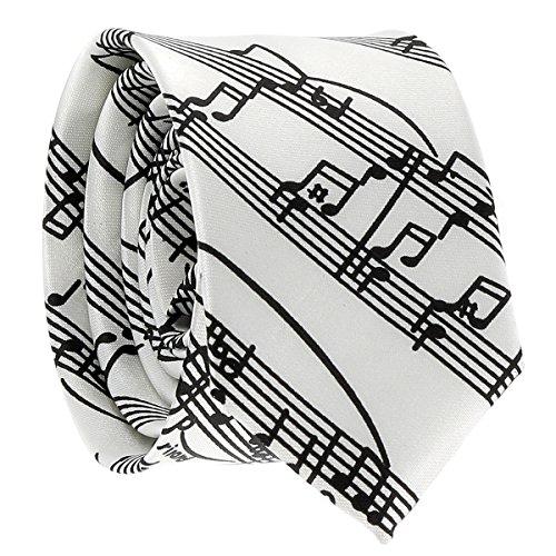 Cravate Partition Blanche - Cravate Fantaisie Originale Musique