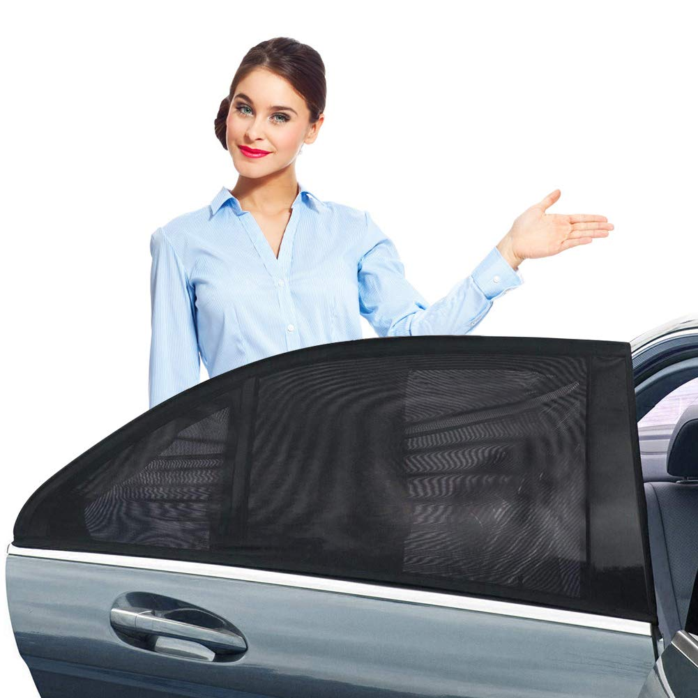 Bayan Car Front Side Window Sunshades Driver Sun Shade-Intended for Most Sedans