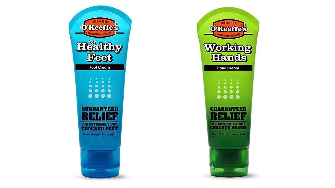 師匠通行人降伏オキーフス ワーキングハンドクリーム &フィートクリームチューブ  85g 各1(合計2点)(並行輸入品) O'Keeffe's Working Hand & Feet Tube Cream 3oz 1 each