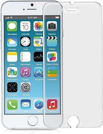 55da92a9523 kwmobile Protector de Pantalla Templado Mate y ANTIREFLECTANTE con Efecto  antihuellas para Apple iPhone 6 /