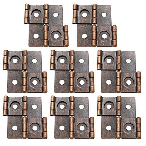 Ja Time 8PCS 47x 47mm Doppelfunktions Scharniere Möbel Paravent Scharnier, antik rot