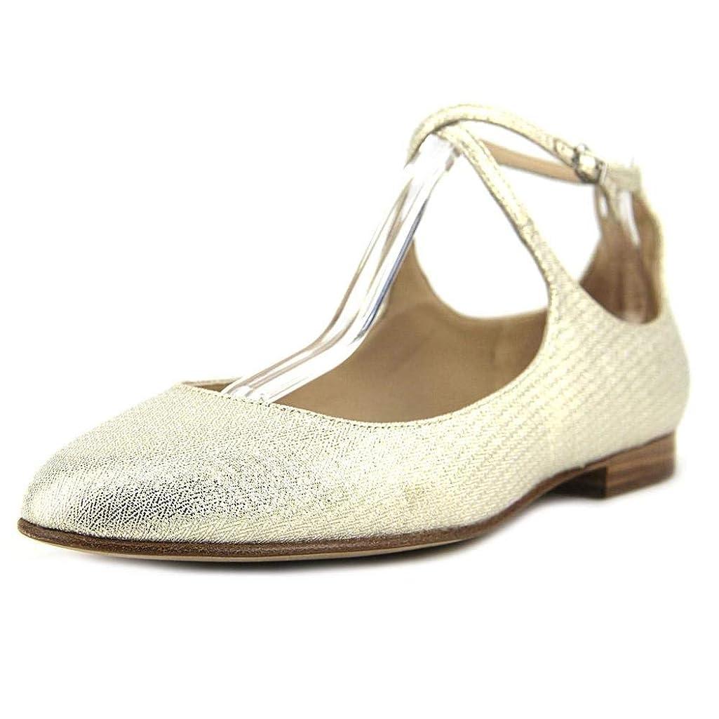 運命的な首謀者加速度[Via Spiga] Womens Yovela Closed Toe Ankle Wrap Espadrille Flats [並行輸入品]