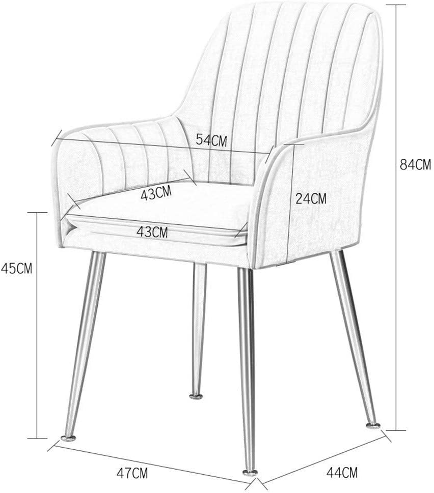LSRRYD Moderne Chaise De Salle À Manger Chaise De Loisirs En Velours Canapé À 1 Place Siège D'accueil Pour Salon Chambre Balcon (Color : Silver gray) Pink