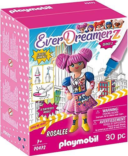 PLAYMOBIL- EverDreamerz 70472 Rosalee - Comic World, Mit PLAYMOBIL-Wasserstift, Ab 7 Jahren