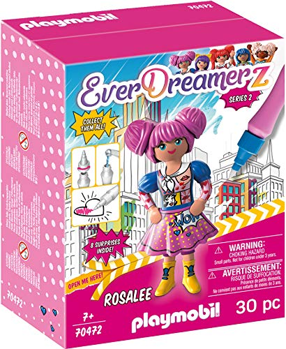 PLAYMOBIL- EverDreamerz 70472 Rosalee - Comic World, Mit PLAYMOBIL-Wasserstift, Ab 7 Jahren