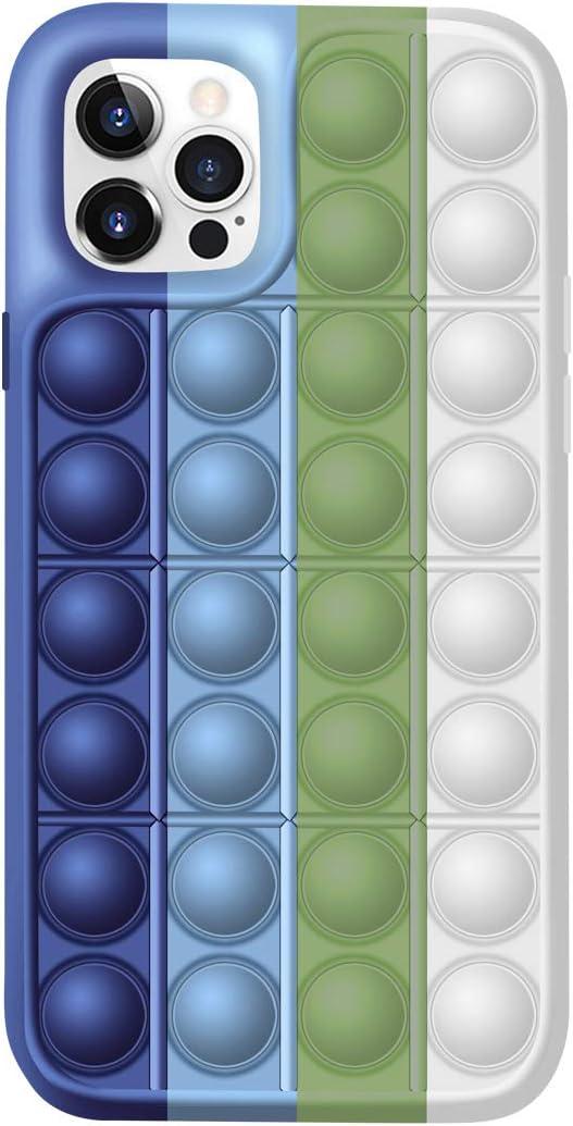 Fidget Toy Phone Case,Push Poppit Bubble Fidget Sensory Toy Protective Case Compatible with iPhone 11-12 (Multicolor03, for iPhone 11Pro)