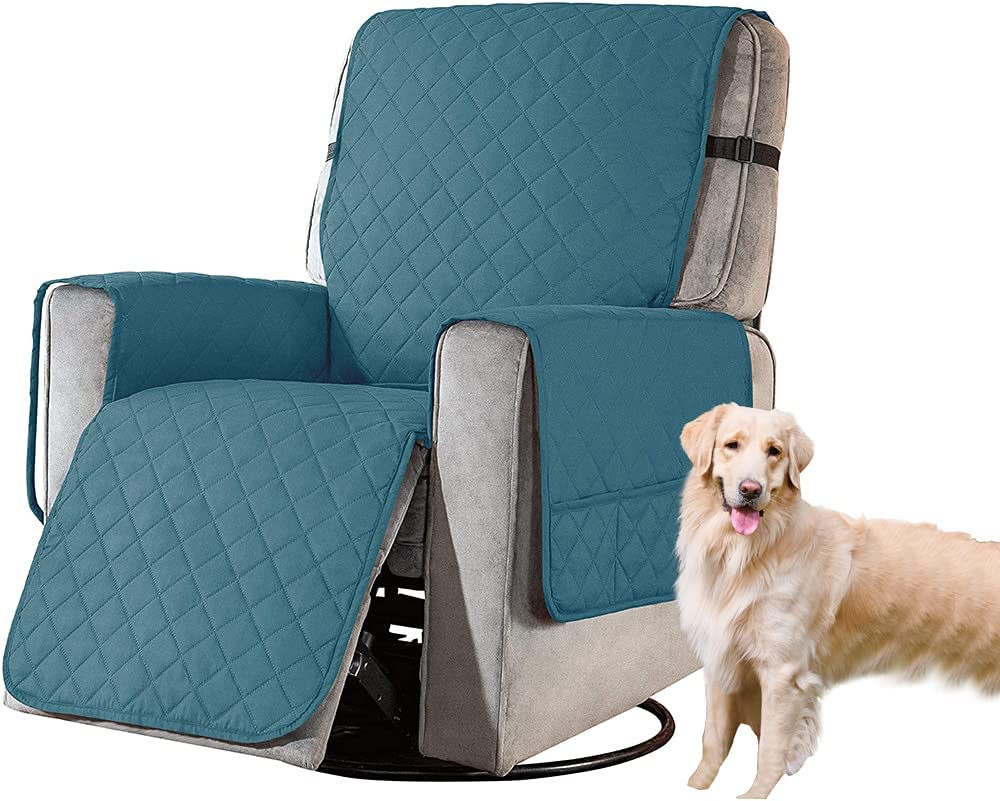 Waterproof Max 85% OFF Reversible Store Recliner Ch Slipcovers Blue-Green