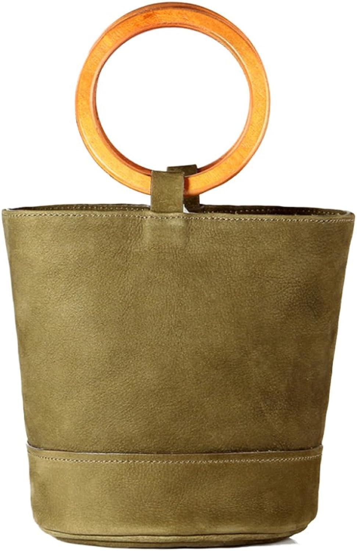 MERRYHE damen Bucket Totes Totes Totes Echtes Leder Schulter Handtaschen Messenger Bags Zwei Größe Mit Abnehmbaren Langen Riemen Mehr Farbe Für Mädchen Damen  7049d8