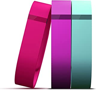 Fitbit Flex Vibrant Accessory Pack, Violet/Pink/Teal, Large
