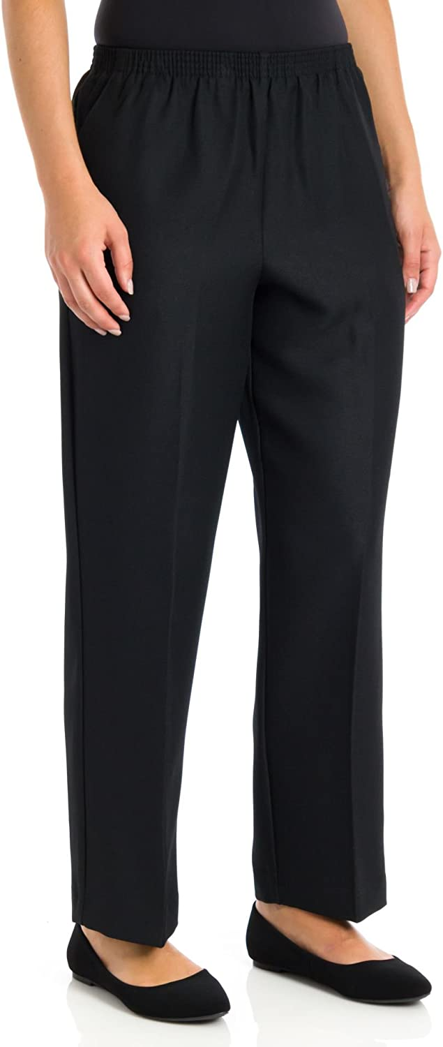 Alfred Dunner Womens Plus Classics Stretch Pull On Pants