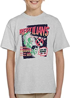 Reptilians Live Among Us Kid's T-Shirt