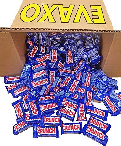 LUV BOX - Nestle Crunch Bar, Creamy Milk Chocolate Crisped Rice, Snack Fun Size (Pack of 5 Pounds)