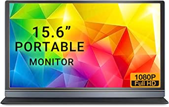 ELECROW Portable Monitor 15.6 Inch USB C Monitor Full HD 1920x1080 IPS HDMI Display Compatible with Raspberry Pi, Xbox 360...